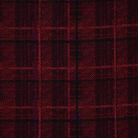 Fabtrends Washer Ghost Plaid Red