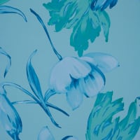 Fabtrends Ity Weeping Floral Aqua