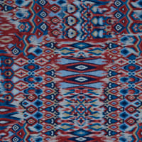 Fabtrends DTY Ikat Navy Red