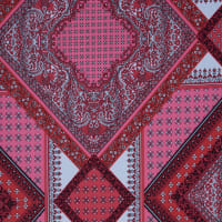 Fabtrends Ity Paisley Border Pink