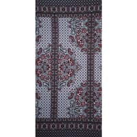 Fabtrends Ity Paisley Floral Border Black Red