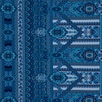 Fabtrends Ity Medallion Paisley Denim