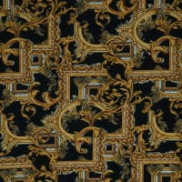 Fabtrends Dty Chained Paisley Black Gold