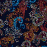 Fabtrends Ity Paisley Navy Rust