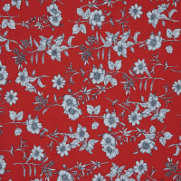 Fabtrends Dty Floral Red White