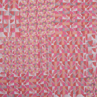 Fabtrends Budapest Geometric Squares Pink Cantaloupe