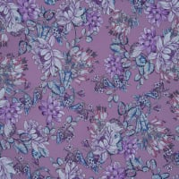 Fabtrends Washer Ghost Floral Mauve Lilac