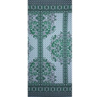 Fabtrends Ity Paisley Floral Border Black Kelly Green