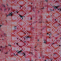 Fabtrends DTY With Puff Abstract Ikat Fuschia Orange