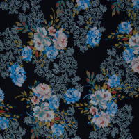 Fabtrends Washer Ghost Floral Black Peri