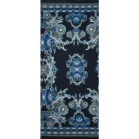 Fabtrends Ity With Puff Paisley Floral Border Teal Olive