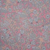 Fabtrends Hi Multi Chiffon Floral Paisley Coral