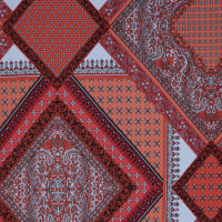 Fabtrends Ity Paisley Border Coral