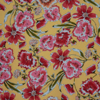 Fabtrends Dty Floral Yellow Red