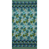 Fabtrends Ity Floral Plaid Border Sage