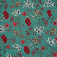 Fabtrends Dty Floral Sage Coral