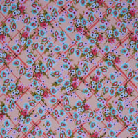Fabtrends Dty Ditzy Flower Grid Peach Coral