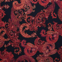 Fabtrends Nu Suede Paisley Wine Red