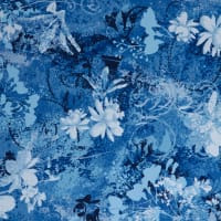 Fabtrends Ity Floral Paisley Denim