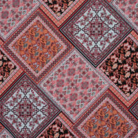 Fabtrends ITY Patchwork Coral