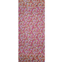 Fabtrends Ity Grid Floral Border Fuschia Orange