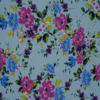 Fabtrends Washer Ghost Floral Bouquet Sage Purple