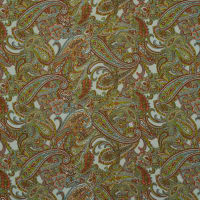 Fabtrends Wool Dobby Paisley Clay Lime