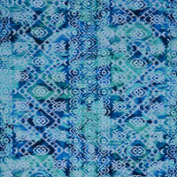Fabtrends Dty With Puff Abstract Ikat Blue