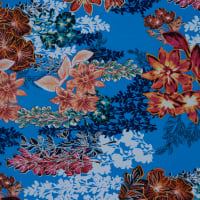 Fabtrends Ity Floral Blue Orange