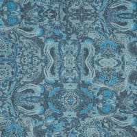 Fabtrends Polyester Rayon Burnout Paisley Jean Blue