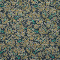 Fabtrends Yoryu Satin Lurex Paisley Olive Taupe