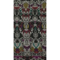 Fabtrends Ity Paisley Border Teal
