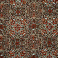 Fabtrends Satin Chiffon Paisley Taupe Rust
