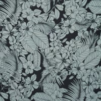 Fabtrends Wool Dobby Tropical Floral White Black