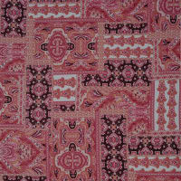 Fabtrends Wool Dobby Patchwork Hibiscus