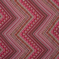 Fabtrends Crinkled Woven Rayon Crepeon Chevron Pink