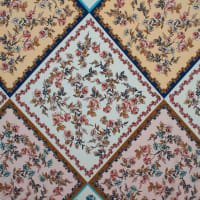 Fabtrends Ity Geometric  Quilt  Floral Coral
