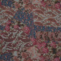 Fabtrends Hi Multi Chiffon Paisley Floral Coral Pink