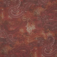 Fabtrends Yoryu With Lurex Animal Paisley Red Clay