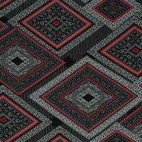 Fabtrends Washer Ghost Geometric Red Black