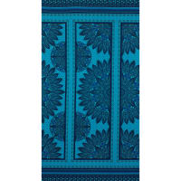 Fabtrends Ity Ethnic Border Floral Turquoise Royal