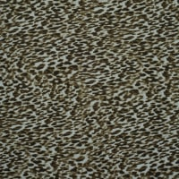 Fabtrends Rib Knit Animal Leopard Taupe