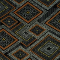 Fabtrends Washer Ghost Geometric Gold