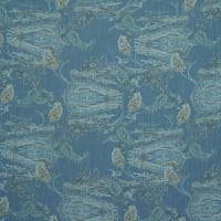 Fabtrends Textured Woven Galiano Paisley Dark Blue Denim