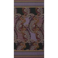 Fabtrends Ity Paisley  Double Border Violet
