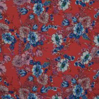 Fabtrends Washer Ghost Floral Red Blue