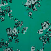 Fabtrends Ity Floral Turquoise