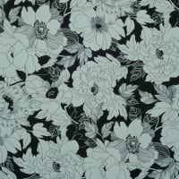 Fabtrends Dty Floral Black Ivory