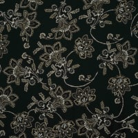 Fabtrends Dty With Puff Floral Black Tan Offwhite