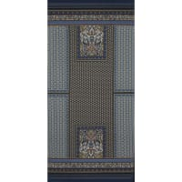 Fabtrends Ity Engineered  Foulard Double Border Blue